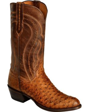 Lucchese Men's Montana Full Quill Ostrich Western Boots, , hi-res