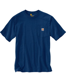 Carhartt Men's Workwear Pocket T-Shirt - Big & Tall, Dark Blue, hi-res