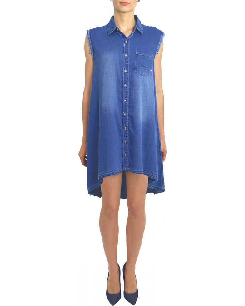 Tractr Blu Women's Monday Blu Shirt Dress , Indigo, hi-res