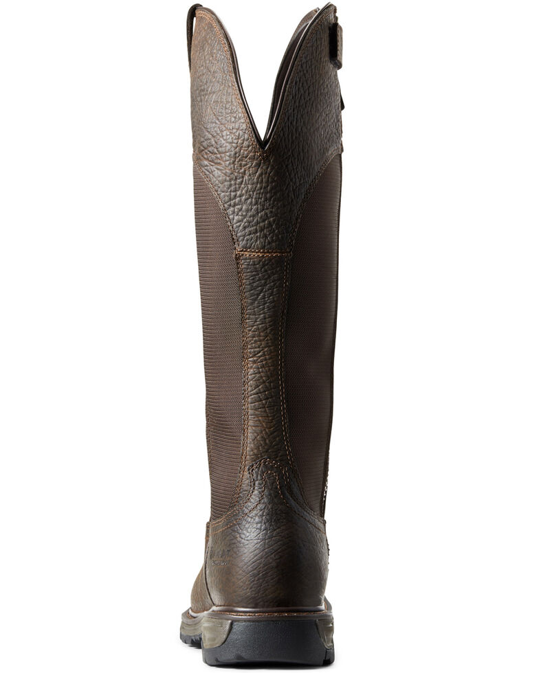 Ariat Men's Conquest Waterproof Snake Boots - Soft Toe, Brown, hi-res