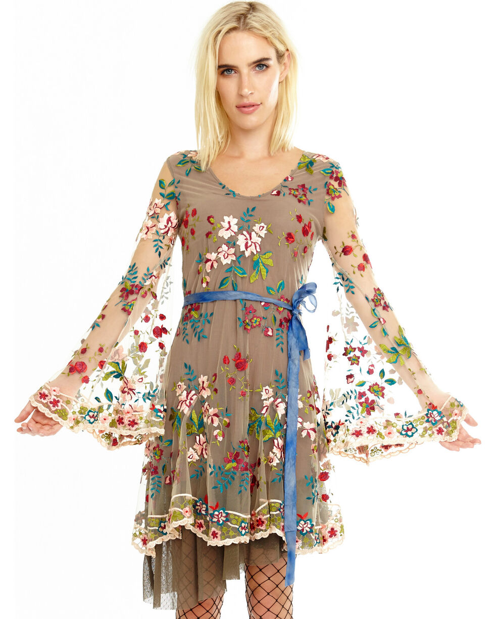 Aratta Women's Tan The Princess & The Pea Dress , Tan, hi-res