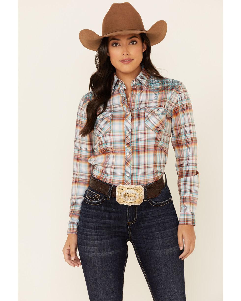 Womens Stripe Button Shirt Ladies Long Bell Sleeve Plaid Striped Blouse Tank Top
