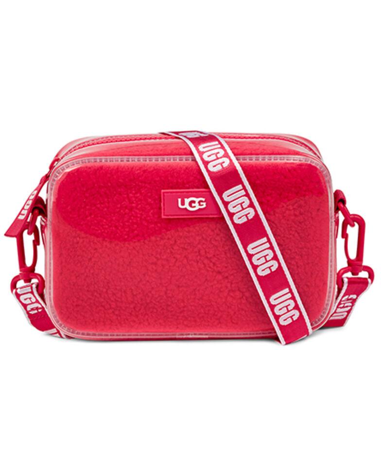 UGG Women's Janey Clear Sheepskin Crossbody, Pink, hi-res