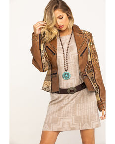 Double D Ranchwear Women's Brown Tobiano Jacket, Brown, hi-res