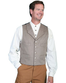 Wahmaker by Scully 4-Pocket Wool Vest, Lt Grey, hi-res
