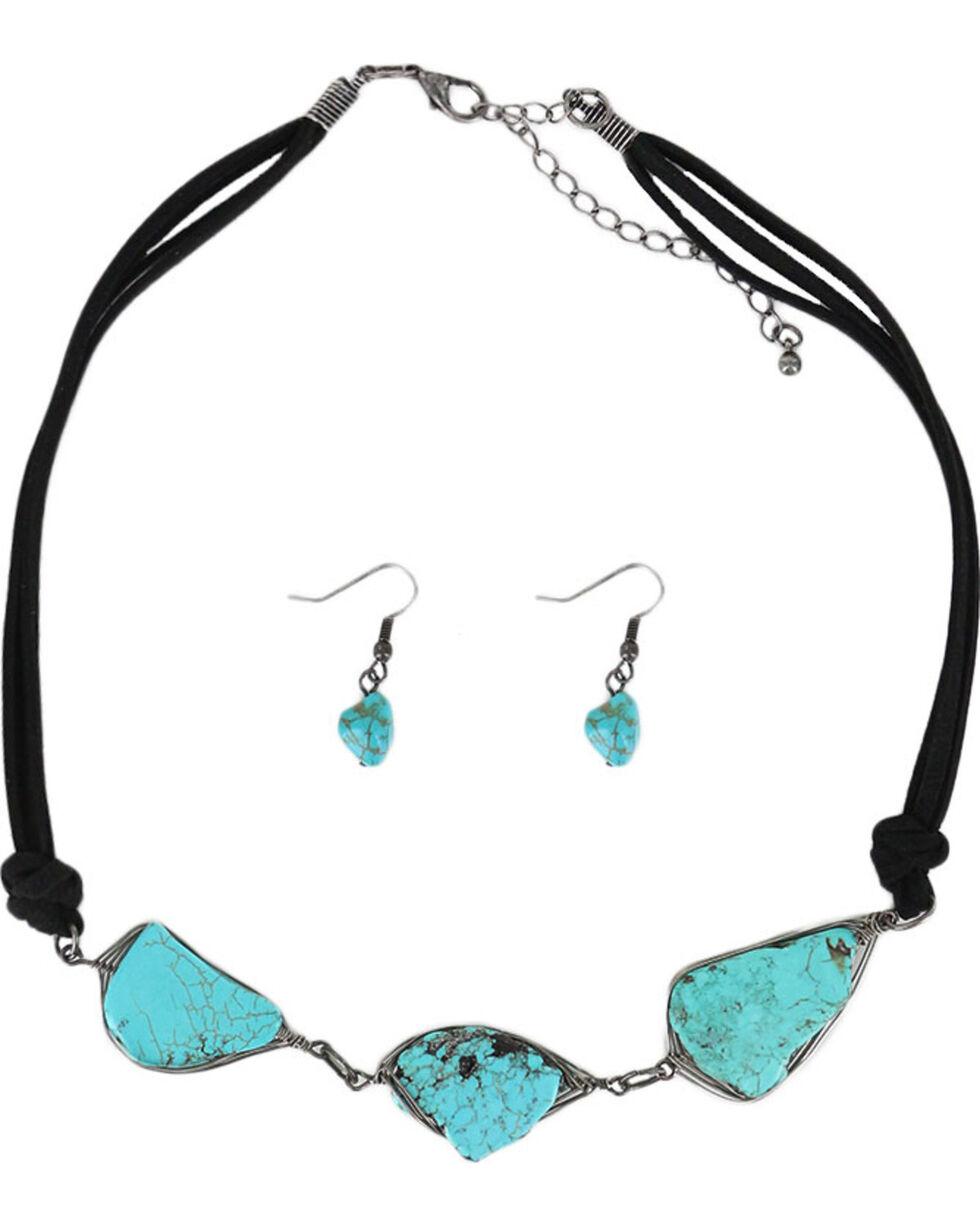 Shyanne® Women's Stone Trio Jewelry Set , Turquoise, hi-res