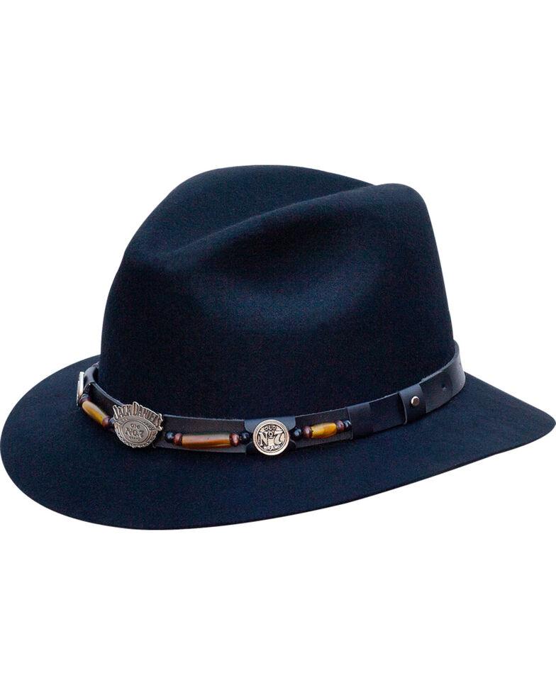Jack Daniel's Men's Structured Wool Hat  , Black, hi-res