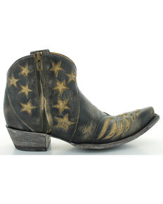 Old Gringo Women's United Patriotic Booties - Snip Toe , Beige/khaki, hi-res