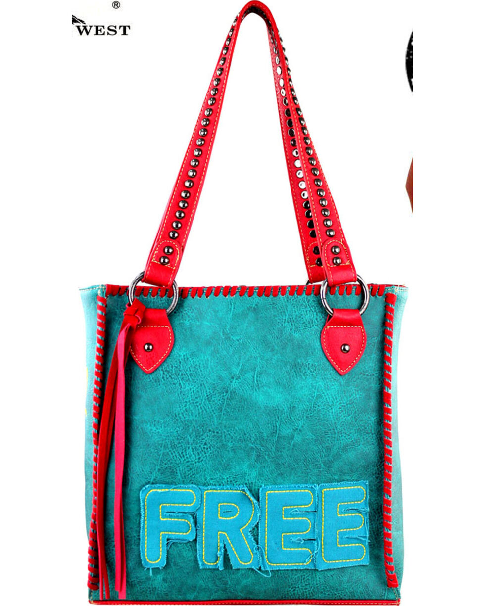 Montana West Turquoise  Concealed Handgun Tote, Turquoise, hi-res