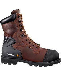 "Carhartt 8"" Brown CSA Work Boot - Safety Toe, Brown, hi-res"