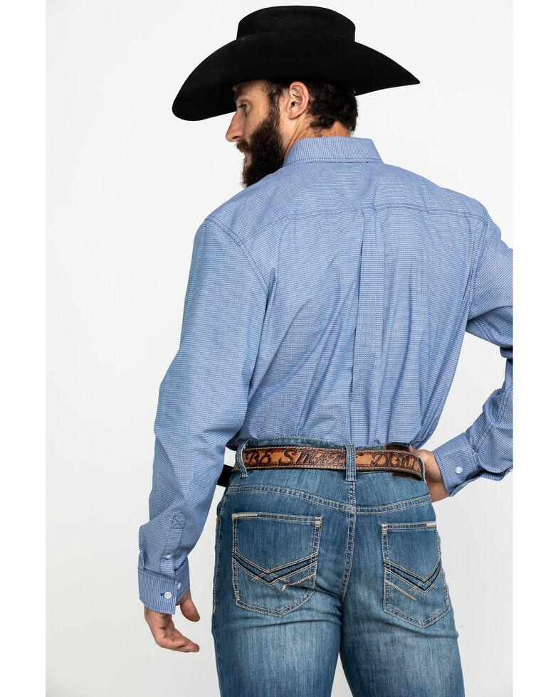 Cody James Core Men's Westin Geo Print Long Sleeve Western Shirt , Blue, hi-res