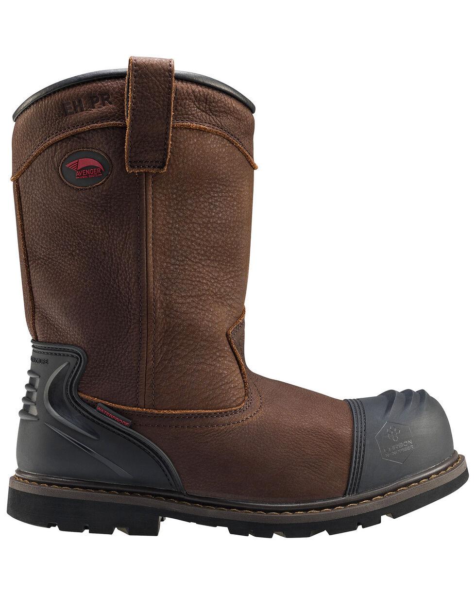 Avenger Men's Waterproof Wellington Work Boots - Composite Toe, Brown, hi-res