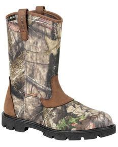 Rocky Men's Cornstalker Waterproof Outdoor Work Boots - Soft Toe, Bark, hi-res