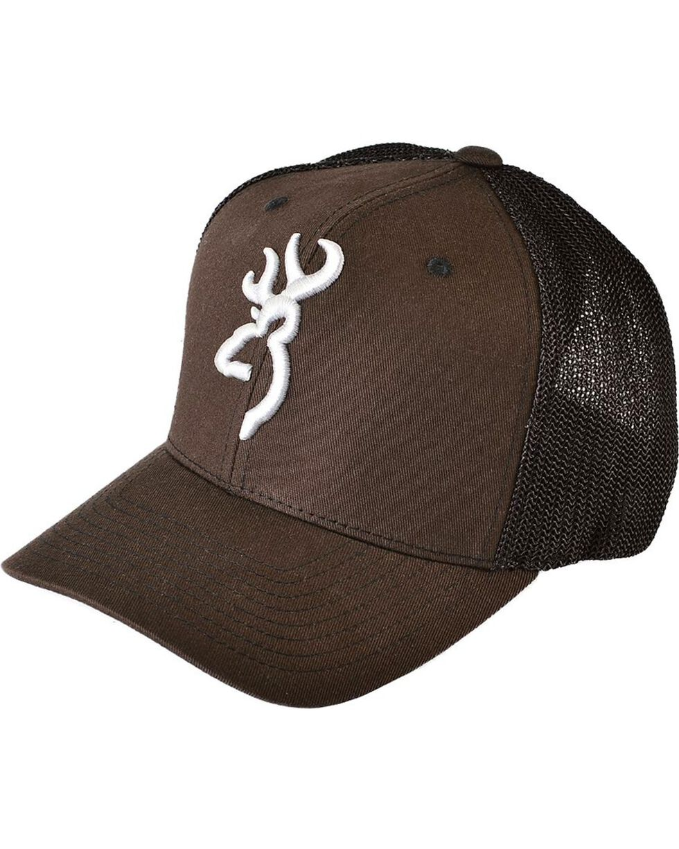 Browning Men's Embroidered Trucker Hat, Brown, hi-res