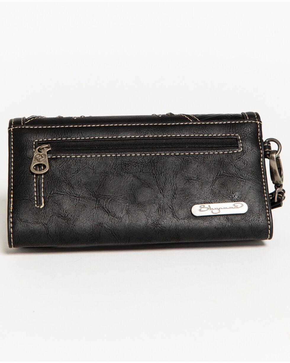 Shyanne Women's Calf Hair Patchwork Wallet Wristlet, , hi-res