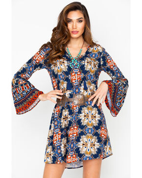 Ariat Women's Print Alton Bell Sleeve Dress , Multi, hi-res