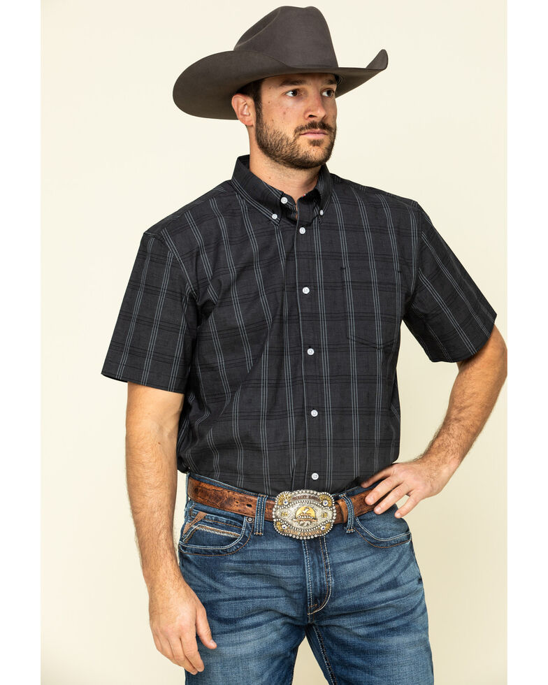 Cody James Core Men's Make It Pay Large Plaid Short Sleeve Western Shirt - Tall , , hi-res
