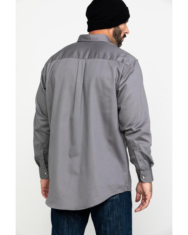 Wrangler FR Men's Lightweight Solid Long Sleeve Work Shirt , Light Blue, hi-res