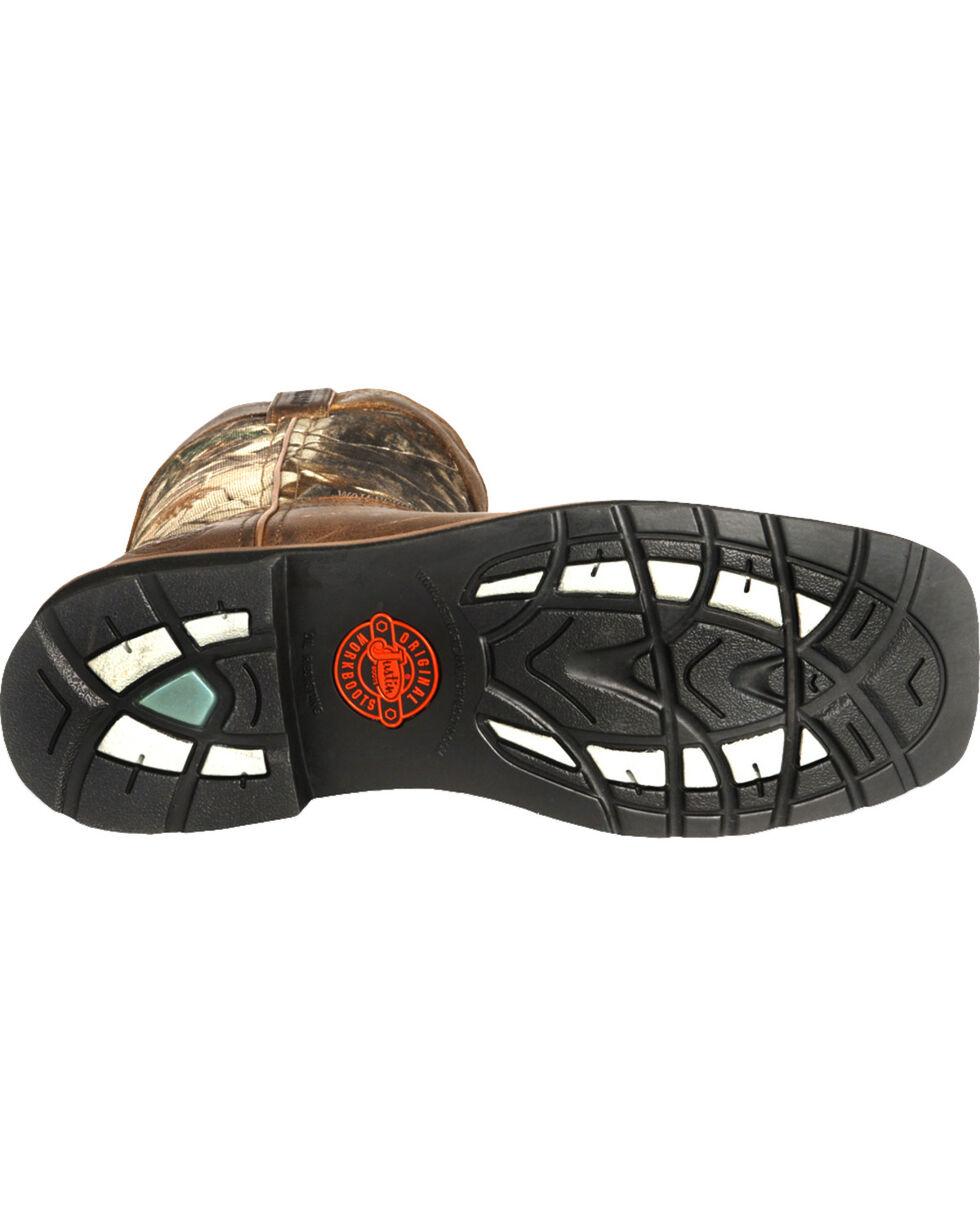 Justin Men's Stampede Camo Waterproof Work Boots, Camouflage, hi-res