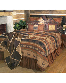 Carstens Autumn Trails Queen Bedding - 5 Piece Set, Rust Copper, hi-res