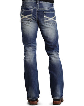 Stetson Men's Premium Rocks Fit Boot Cut Jeans, Med Wash, hi-res