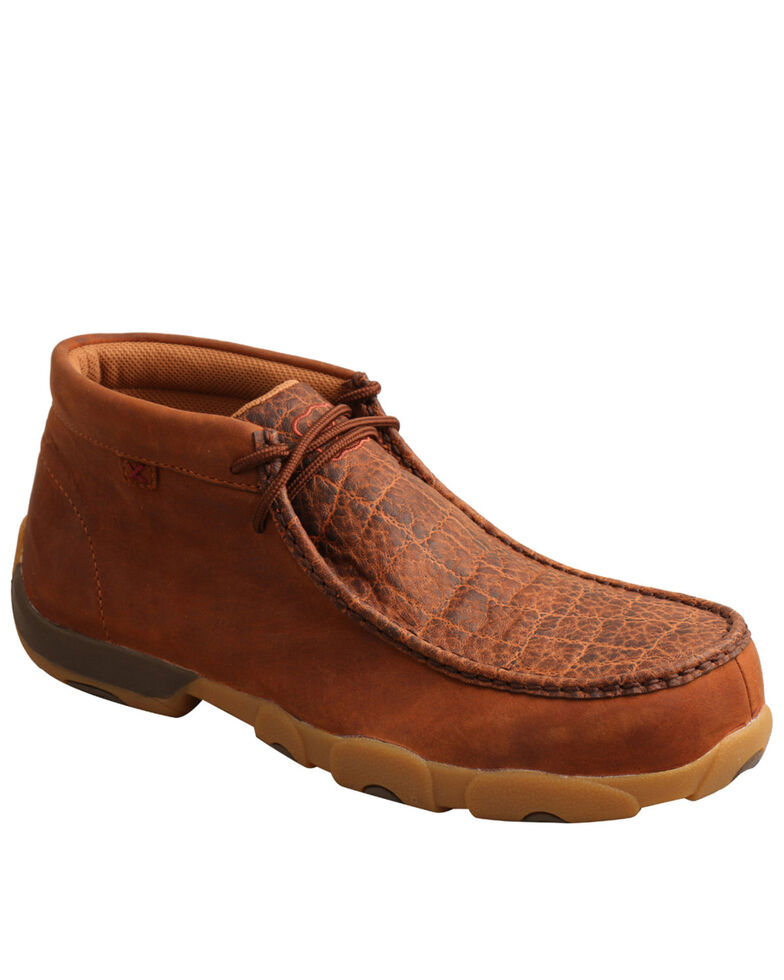 Twisted X Men's Tan Chukka Work Shoes - Steel Toe, Tan, hi-res