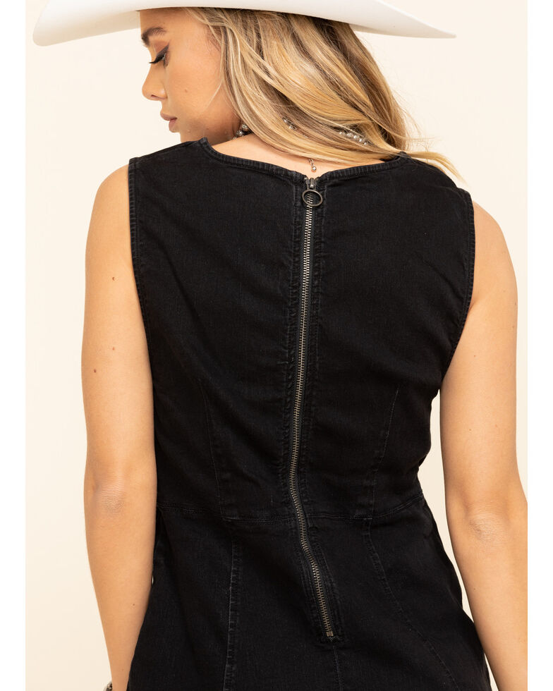 Free People Women's Alex Mini Dress , Black, hi-res