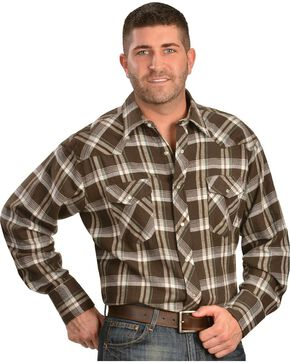 Wrangler Men's Assorted Flannel Shirt, Plaid, hi-res