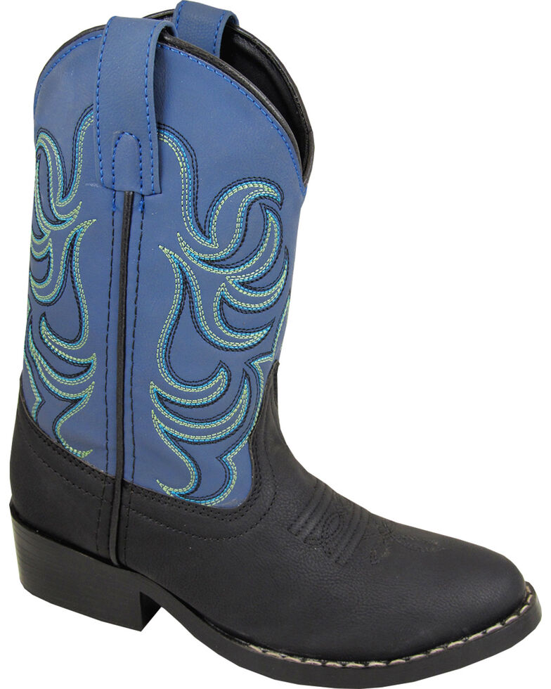Smoky Mountain Boys' Monterey Western Boots - Round Toe, Black, hi-res