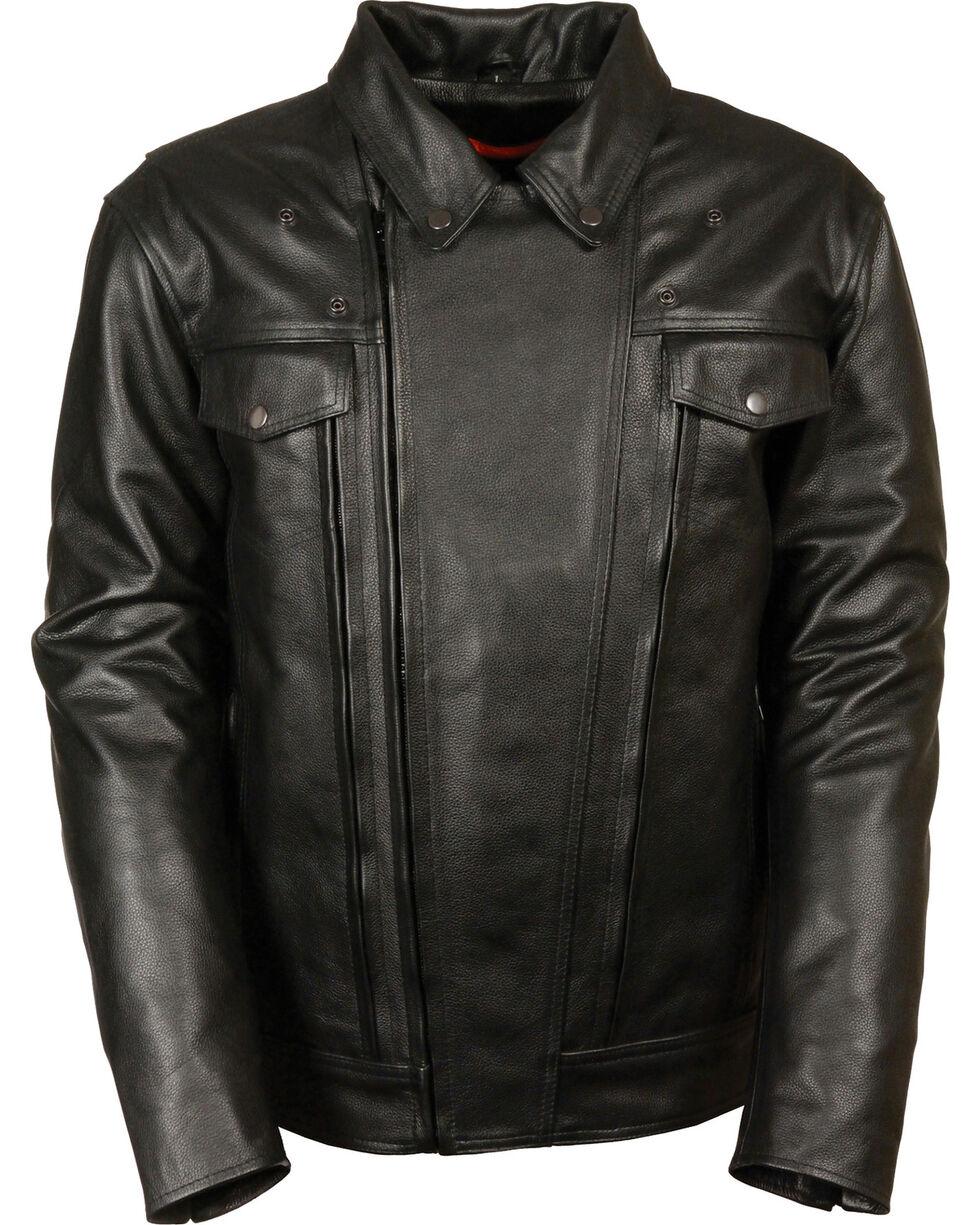 Milwaukee Leather Men's High End Utility Pocket Vented Cruiser Jacket - 4X, Black, hi-res