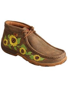 Twisted X Women's Sunflower Chukka Driving Shoes - Moc Toe, Multi, hi-res