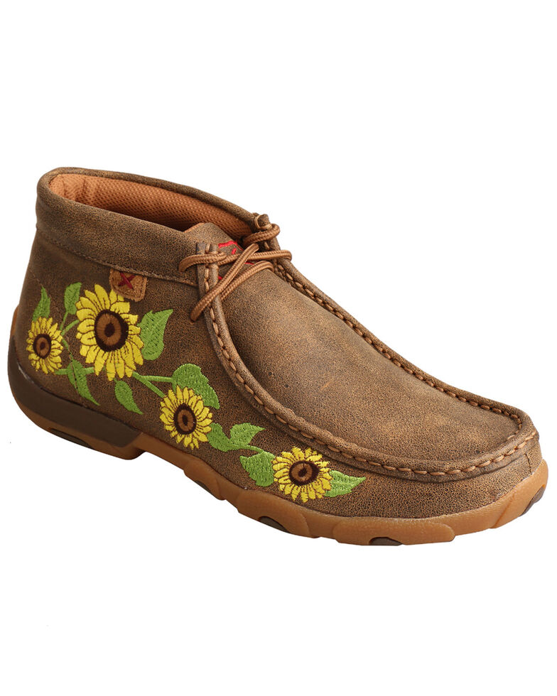 Twisted X Women's Sunflower Chukka Driving Shoes - Moc Toe, Multi, hi-res