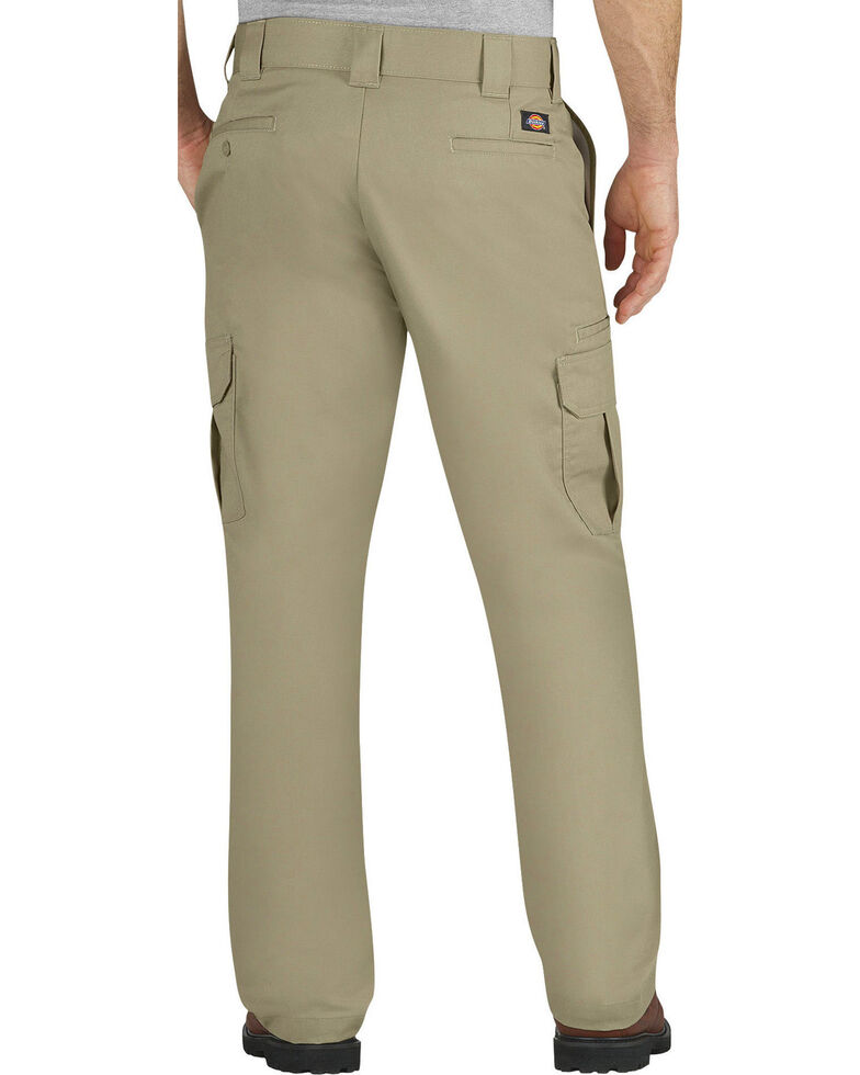 Dickies Men's FLEX Regular Fit Straight Leg Cargo Pants - Big & Tall, Sand, hi-res