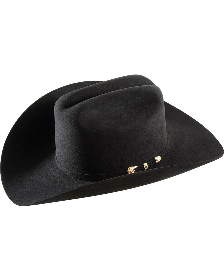 Larry Mahan 30X Magno Fur Cowboy Hat, Black, hi-res