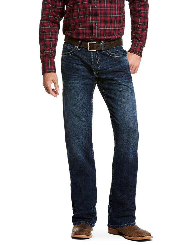 Ariat Men's Salton Stillwell Relaxed Bootcut Jeans, Blue, hi-res