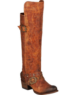 Lane Women's Julie Western Fashion Boots, Brown, hi-res
