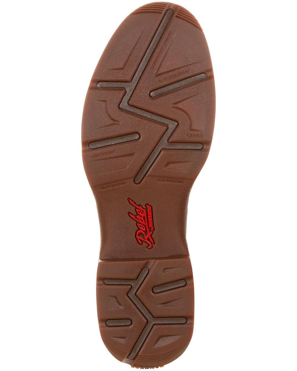 Durango Men's Rebel Saddle Western Boots - Round Toe, Brown, hi-res