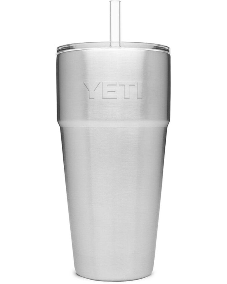 Yeti Rambler 26oz Steel Straw Cup, Steel, hi-res