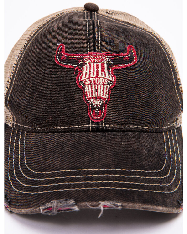Cody James Men's Bull Stops Here Patch Cap , Black, hi-res