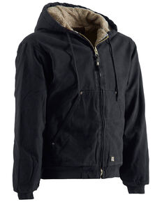 Berne High Country Hooded Jacket - Sherpa Lined, Black, hi-res