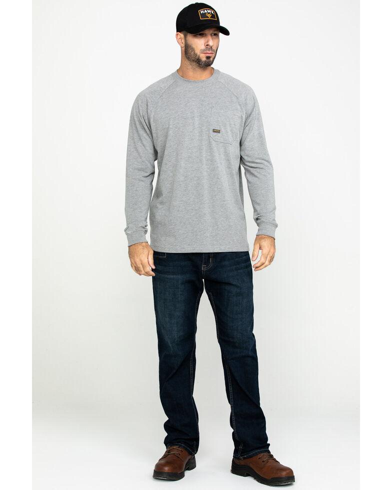 Ariat Men's Rebar Cotton Strong Long Sleeve Work Shirt - Big & Tall , Heather Grey, hi-res