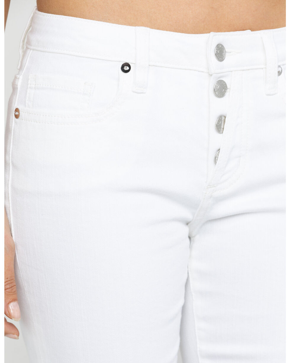 Miss Me Women's Button Clean White Basic Skinny Jeans, White, hi-res