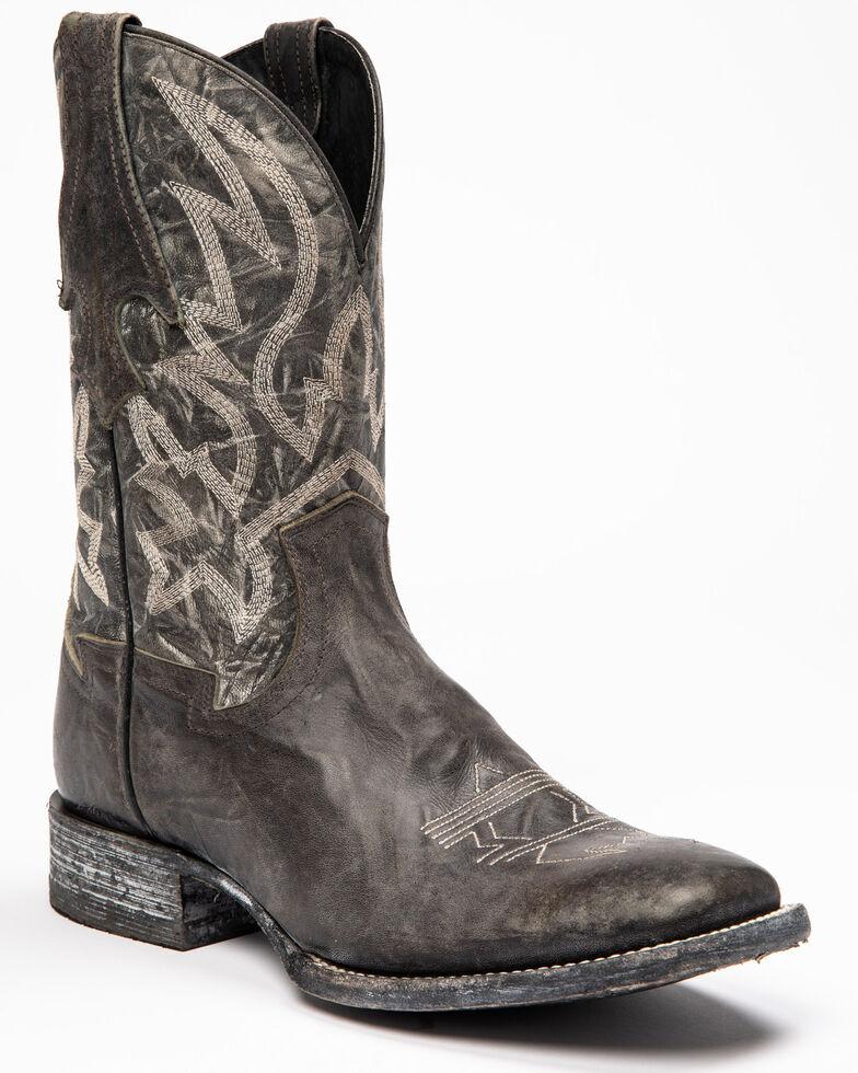 Cody James Men's Black Macho Sicario Western Boots - Wide Square Toe, Grey, hi-res