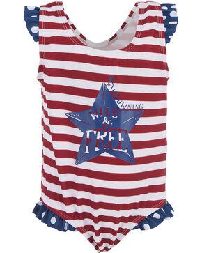 Browning Toddler Girls' Patriotic Swimsuit , Red, hi-res