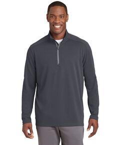 Sport Tek Men's Iron Grey 3X Sport Wick Textured 1/4 Zip Pullover Work Sweatshirt - Big , Grey, hi-res
