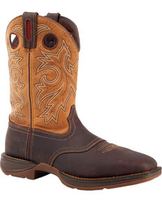Rebel by Durango Men's Waterproof Steel Toe Western Work Boots, Brown, hi-res