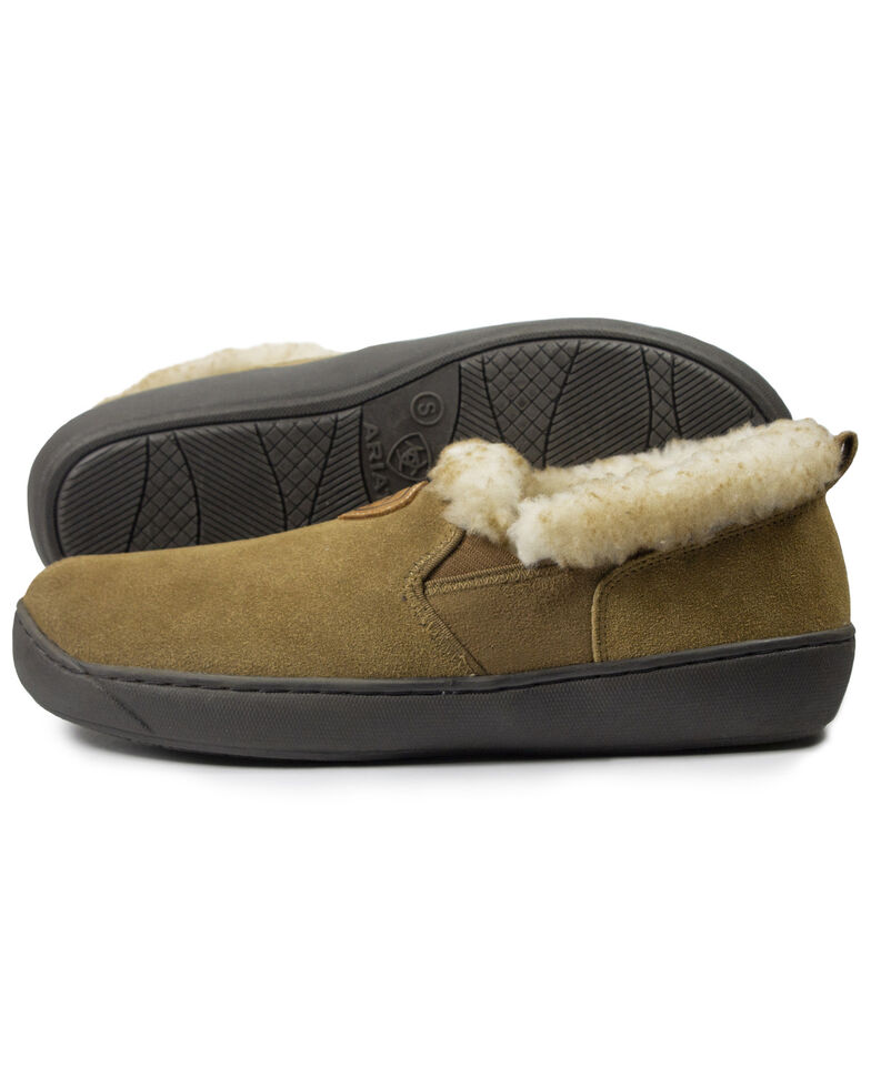 Ariat Men's Sueded Slippers, Tan, hi-res