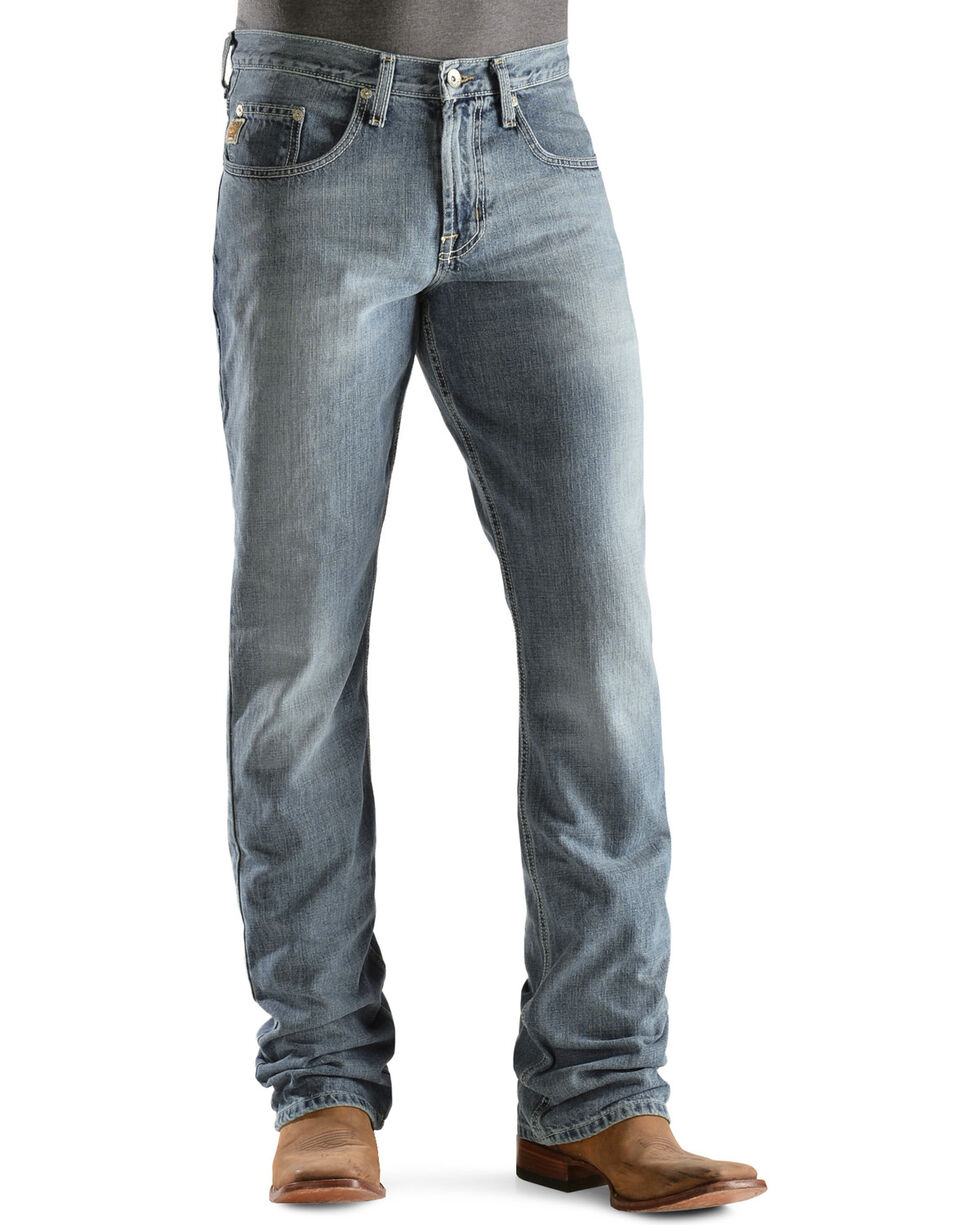 Cinch Men's Dooley Boot Cut Jeans, Light Stone, hi-res
