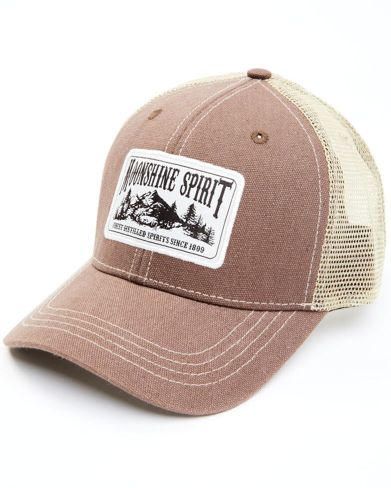 Moonshine Spirit Men's Great Outfitters Patch Mesh-Back Ball Cap , Brown, hi-res