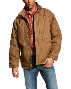 Ariat Men's FR Workhorse Work Jacket - Big & Tall, Beige/khaki, hi-res